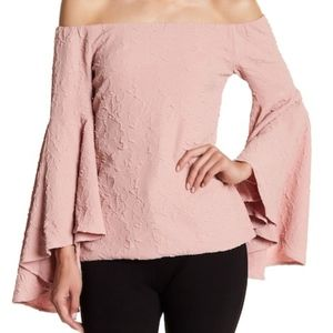 Pink Romeo & Juliet  Off the shoulder Top
